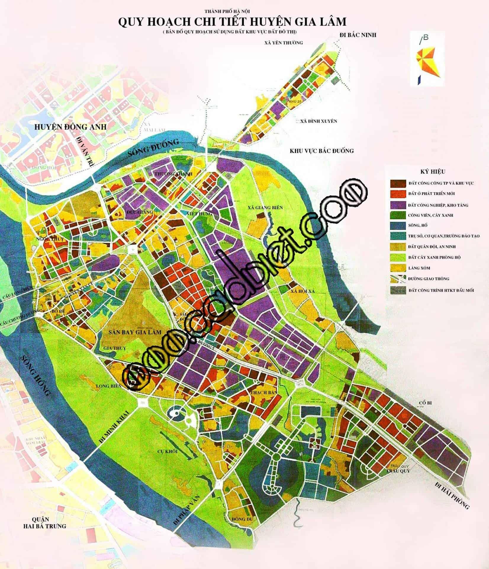 Bản đồ chi tiết quy hoạch Gia Lâm