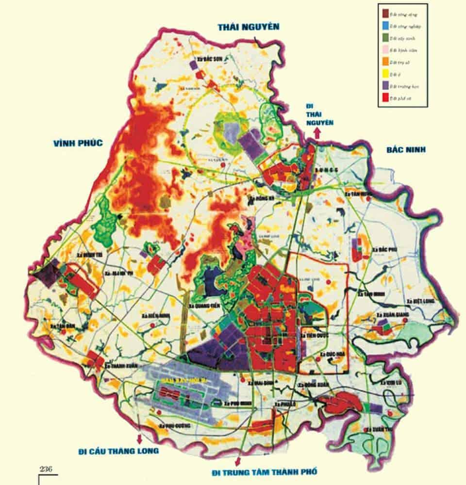 Bản đồ quy hoạch Sóc Sơn