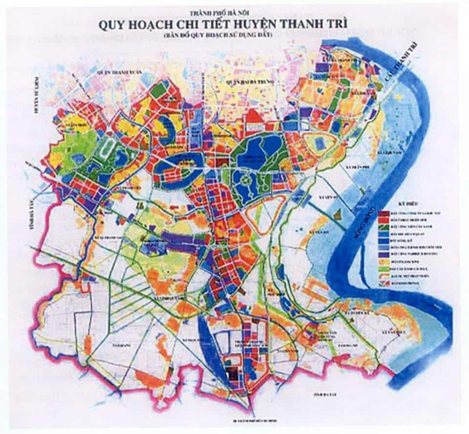 Bản đồ quy hoạch Thanh Trì