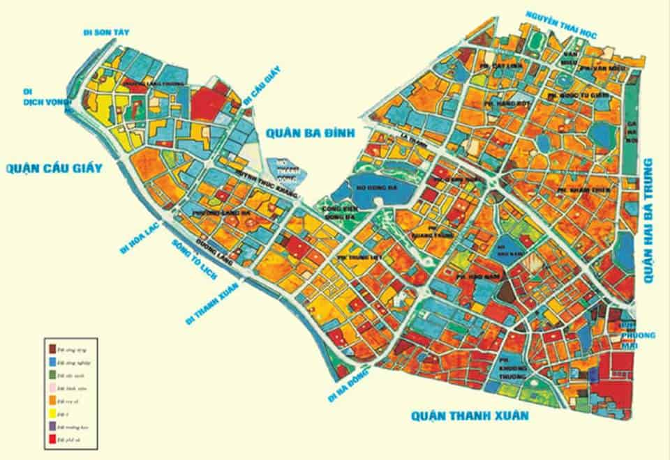 Bản đồ quy hoạch Đống Đa