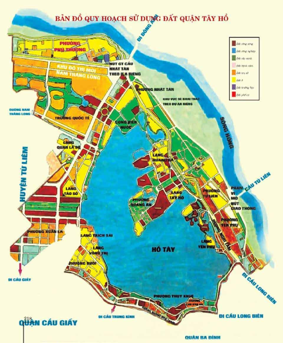 Bản đồ quy hoạch Tây Hồ