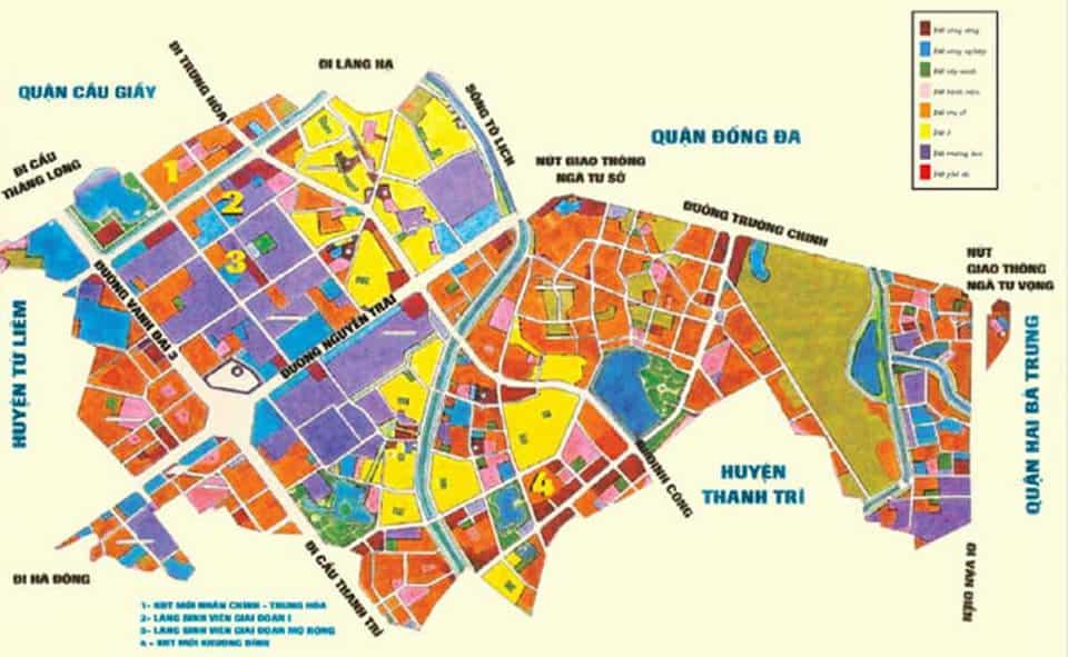 Bản đồ quy hoạch Thanh Xuân