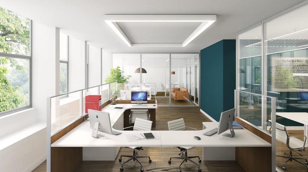 Văn phòng làm việc phân chia theo khu tập trung riêng