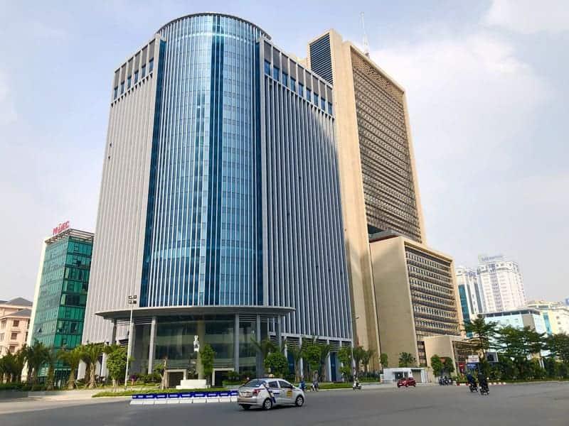 Mặt tiền tòa nhà Thái Building Tower