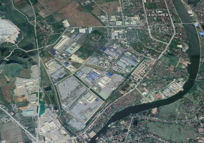 Bản đồ khu công nghiệp Châu Sơn Hà Nam