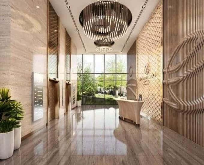 Thiết kế sảnh tòa nhà Grandeur Palace Giảng Võ