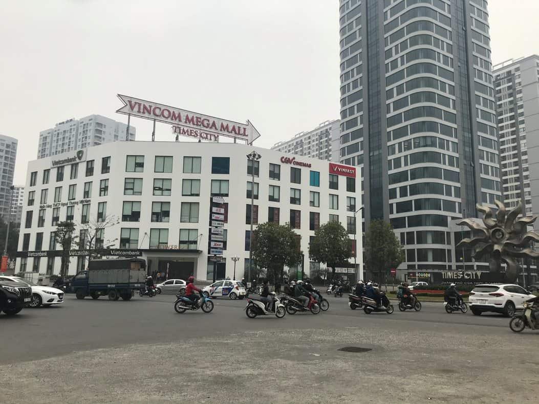 Vị trí tòa nhà Tower 1 Times City đường Minh Khai
