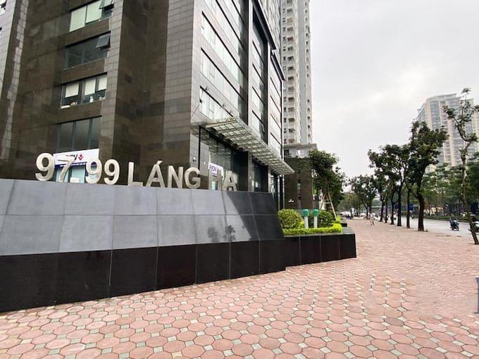 Cho thuê văn phòng Tòa nhà Petrowaco 97 - 99 Láng Hạ